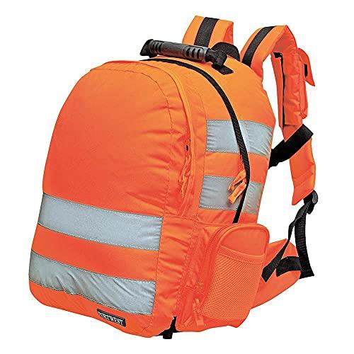 Portwest - B904orr mochila de liberación rápida en naranja de alta visibilidad