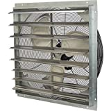 Strongway Totally Enclosed Direct Drive Shutter Exhaust Fan - 30in. 2-Speed, 4,665/4,168 CFM