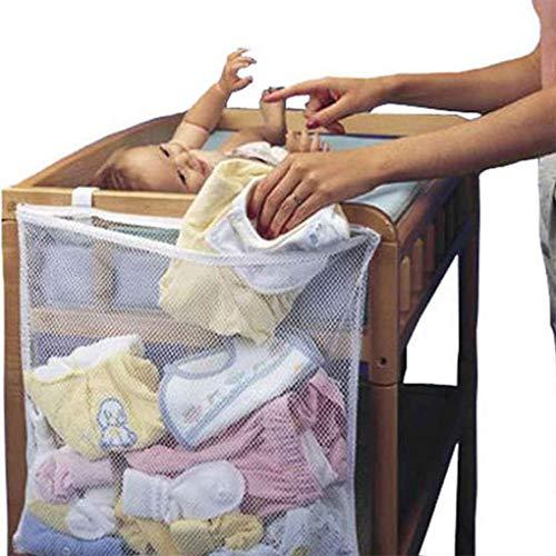 ELENXS Lit bébé Mesh Sac Newborn Pouch Nuit Pare-Chocs bébé Diaper Organisateur Pouch Vêtements Tout-Petits conteneurs
