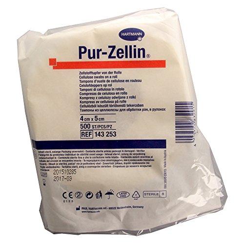Pur Zellin 4x5 cm steril Rolle zu 500 Stück, 1 St