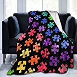 Weighted Blankets-Autism Color Picture Blanket Personalized Sofa Soft Blankets,Blankets for Boys and Girls Keep Warm Indoors and Outdoors