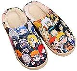 SHOESESTA Zapatillas De Felpa Invierno Damas Hombres Anime Lindo Cálido Hogar Casual Interior Antideslizante Zapatos Naruto_ (Hembra42-44 / Masculino41-43.5) EU_290