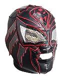 Sombra Lycra PRO Adult Lucha Libre Wrestling Mask (pro-Lycra) Black/Red