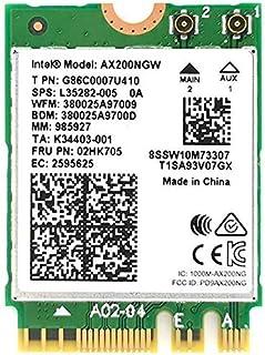 بطاقة MQFORU اللاسلكية ثنائية النطاق Intel 2. 4 جيجا بايت في الثانية 802. بطاقة 11ax اللاسلكية Intel AX200 WiFi بلوتوث 5. ...