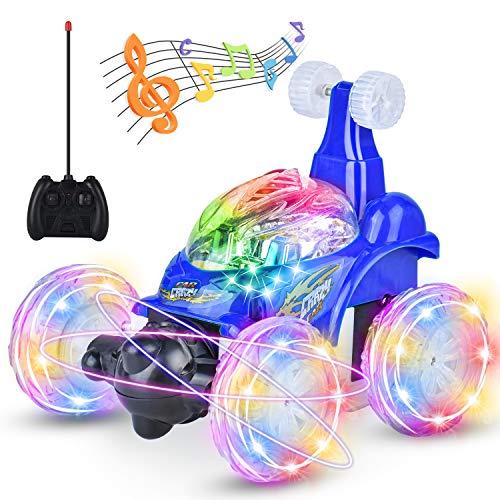 Ferngesteuertes Auto Spielzeug, Junge Mädchen Spielzeug 360 ° Drehbares Dual Mode Kletterauto mit Fernbedienung, LED Front und Rücklicht, USB Kabel, Geschenke für Mädchen und Jungen