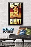 Trends International WWE - Andre The Giant, 22.375' x 34', Barnwood Framed Version
