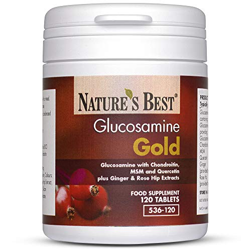Glucosamine Gold- A Unique High Potency Formula with Chondroitin, Ginger, Msm and Rosehips- 120 Tablets, UK-Made