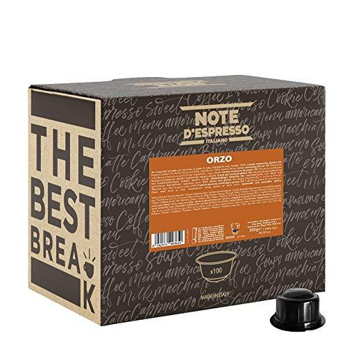 Note d'Espresso - Cápsulas de café para las cafeteras Caffitaly, Barley, 9,5 g (caja de 100 unidades)