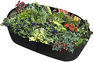 Fabric Raised Garden Bed Rectangle Breathable Planting Container Grow Bag Durable Flower Vegetable Planter Raised Bed 2ft(...