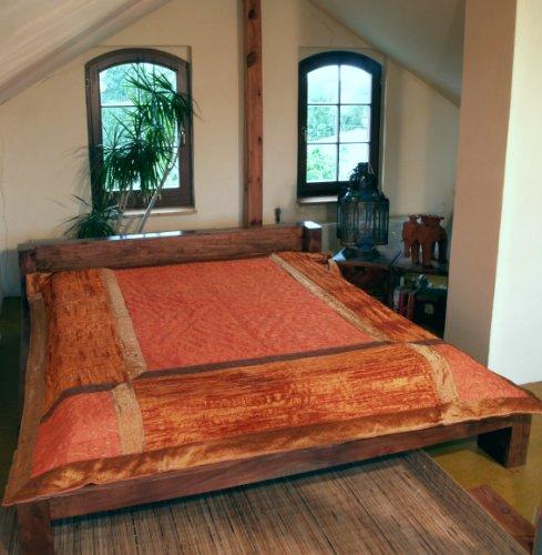 Brokat / Samt Steppdecke, Bettüberwurf - orange / Steppdecken & Quilts