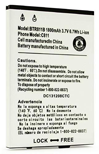 Replacement Battery for CASIO C811 G'zOne Commando 4G LTE GZONE VERIZON BTR811 BTR811B 1800 MAH