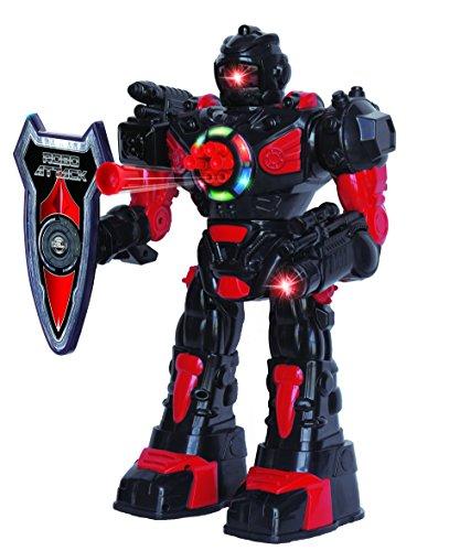 ThinkGizmos Robot Telecomandato per Bambini - Robot Giocattolo Divertente per Bambini - Balla, Lancia Morbidi Missili, Parla & Cammina - RoboAttack
