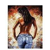 Diy 5D Diamond Sticker Painting Kits Arts Crafts - Sexy Nude Back Woman(Frameless)