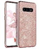 DOMAVER Samsung Galaxy S10 Case, Galaxy S10 Case Glitter