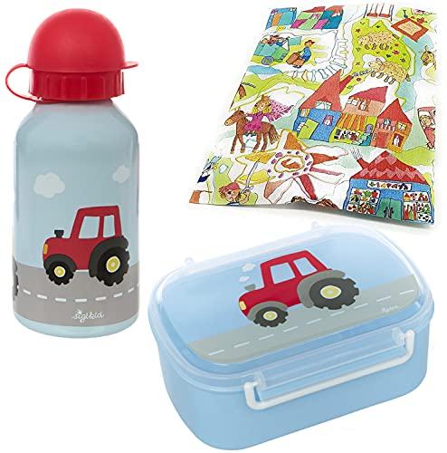 Sigikid Fiambrera y botella de agua, diseño de tractor