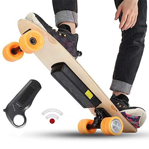 AFYH Skate Eléctrico, Longboard Eléctrico Mando a Distancia Inteligente para niños 24V...