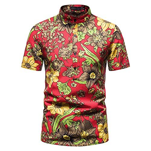 SSBZYES Camisas para Hombres Camisas De Verano De Manga Corta Camisas De Talla Grande para Hombres Camisas Camisas Florales Tops Estampados Camisetas para Hombres Tops