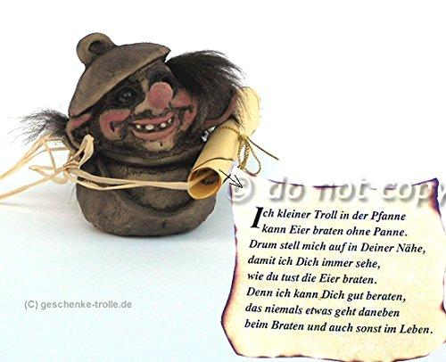 Ny Form Troll im Tiegel mit Gedicht, Original Norwegen Design,