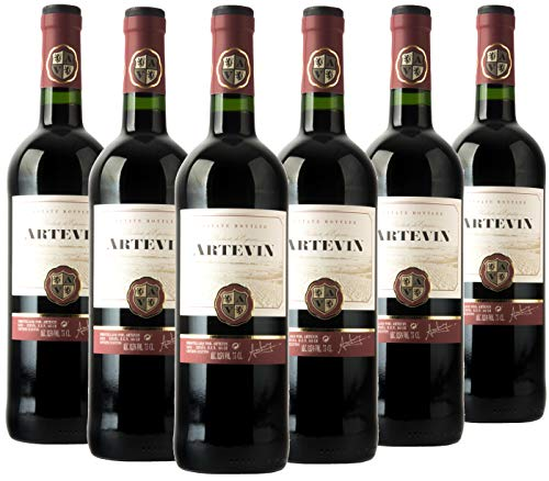 Artevin vino Tinto - Caja de 6 botellas x 750 ml (Caja 6 botellas)