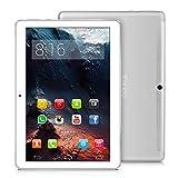 4G LTE Tablette Tactile 10 Pouces - TOSCIDO Android 9.0 Certifié par Google GMS,4Go RAM,64Go ROM,Octa Core 2GHz CPU Haute Vitesse,Doule Sim,WiFi,Double Haut-Parleur Stéréo - Argento