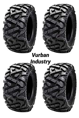 Bundle - Four Tusk TRILOBITE 8-Ply HEAVY DUTY ATV UTV Tires - TWO 29x9-14 and TWO 29x11-14