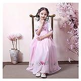 Disfraces para niñas, ropa china, falda de pecho mejorada, vestido de estilo chino, hada, elegante, disfraz para niños, niñas y mujeres (color: rosa, tamaño: 130 cm)