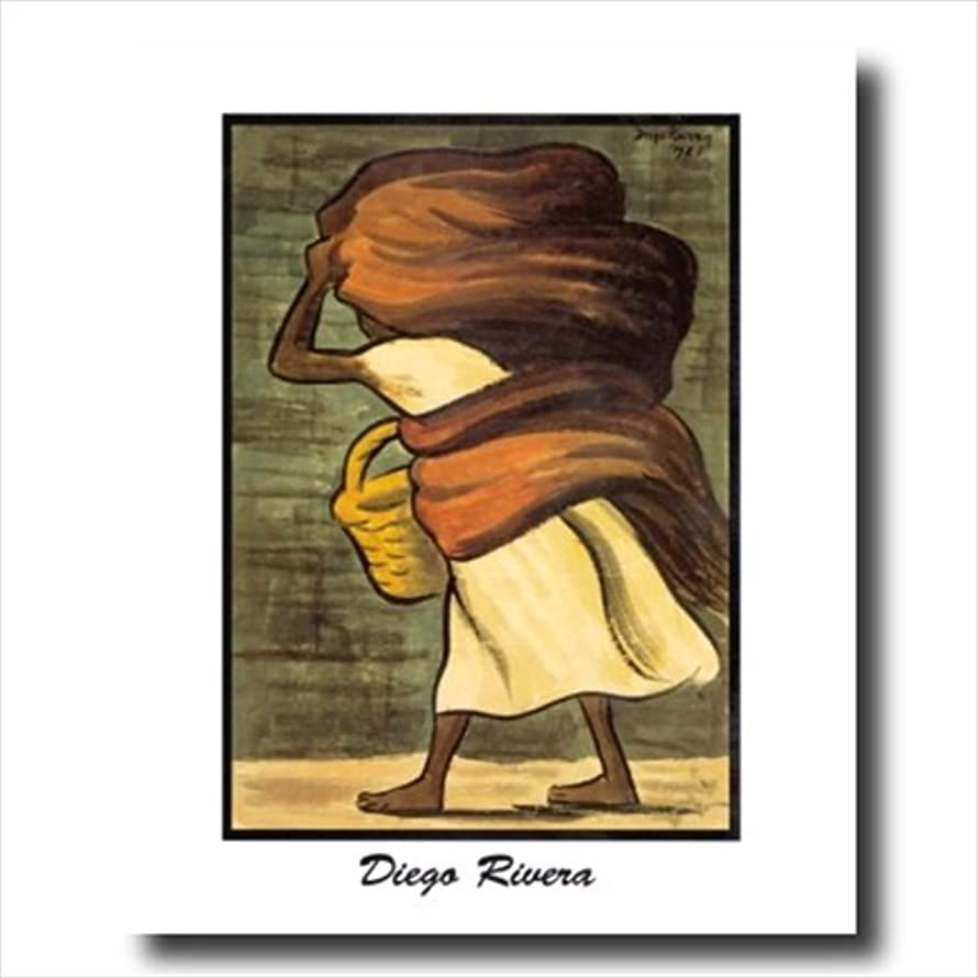 Diego Rivera Mujer Con Canasta Wall Picture 16x20 Art Print