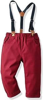 HOSD niños Primavera y otoño Pantalones Tejidos Puros niños bebé Pantalones elásticos Casuales