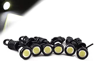 HOTSYSTEM Eagle Eye LED Light Bulbs 9W DC12V 18mm for Off-Road Car ATV Camper Trunk Motorcycle Day Time DRL License Plate Turn Signal Stop Parking Tail Reverse Fog Trunk Backup Light (White,6-Pack)