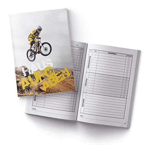 itenga Hausaufgabenheft DIN A5 96 Seiten Motiv Downhill Mountainbike Fahrrad Meine Hausaufgaben für Gemeinschaftsschule Gymnasium