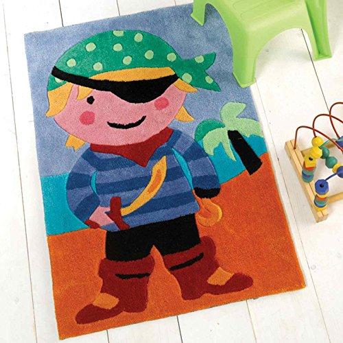 Flair Rugs Kiddy Play - Alfombra Infantil Pirata (70 x 100 cm)