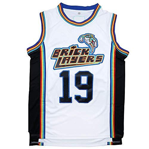 Mens Basketball Jersey #19 Aaliyah Brick Layers 1996 MTV Rock N Jock Jersey (Small) White