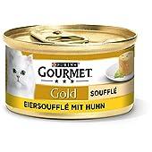 Purina Gourmet Gold Soufflé, Kattenvoer, 12 Stuks (12 x 85 g Blik)