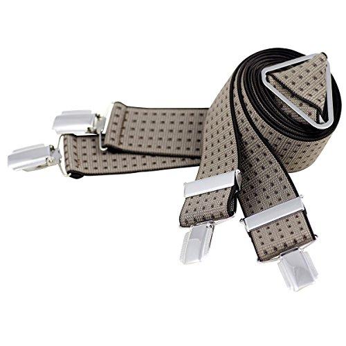 Lindenmann Mens Braces/Suspenders/mens suspenders, X-shape, 35 mm stetch, XXL, brown, 7544-001, Größe/Size:110