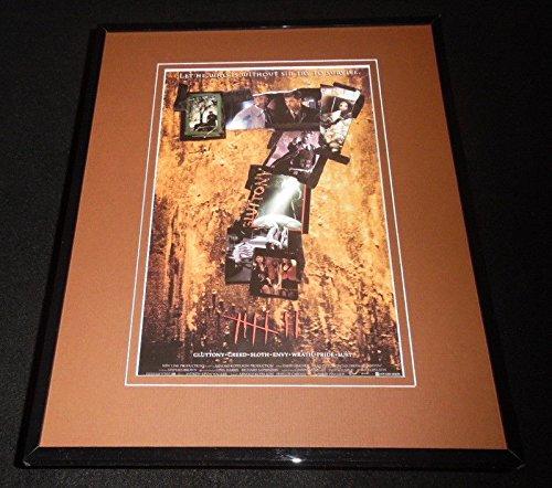 Seven Framed 11x14 Repro Movie Poster Display Brad Pitt Se7en