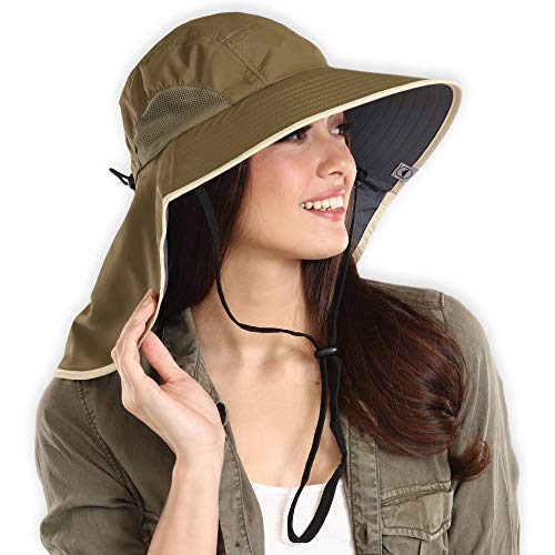 Fishing & Hiking Boonie Sun Hat - UV Protection Safari & Camping Bucket Hats for Men & Women for Outdoor Gardening - UPF 50+