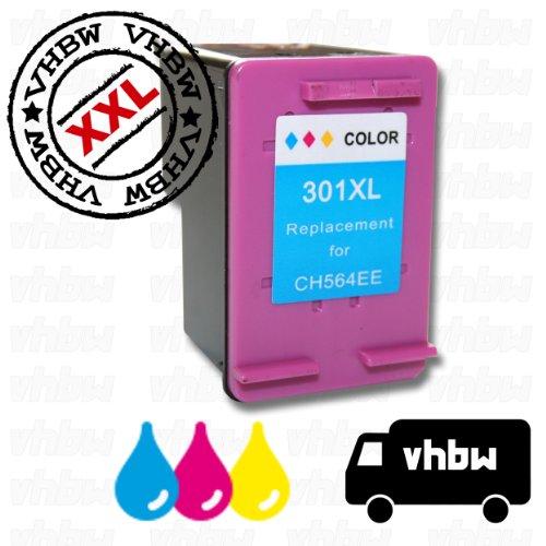 vhbw kompatible Ersatz Tintenpatrone Druckerpatrone bunt für Drucker HP Deskjet 1510 E-All-In-One, 2050, 2050 J510a, 2050A, 2050A