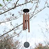 Lukeline Original Guaranteed Music Tuning Wind Chimes, Wood and Aluminum Wind Chimes, Soothing Melody, Suitable for Outdoor Decoration and As, Gold