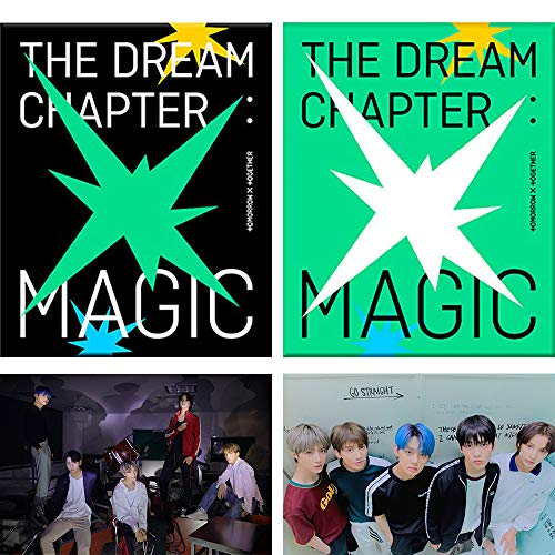 TXT The Dream Chapter : Magic Album PreOrder (Arcadia+Sanctuary Ver Set) 2 CDs+2 Posters+2 Photobooks+4 Photocards+2 Student ID Pads+2 Sticker Packs+2 Viewer Glasses+Gift(4 Photocards Set)