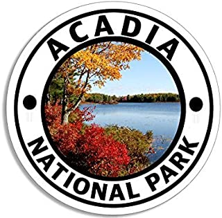 MAGNET Round ACADIA National Park Magnetic Sticker (hike travel rv)