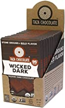 Taza Chocolate Organic Amaze Bar 95% Stone Ground, Wicked Dark, 2.5 Ounce (10 Count), Vegan