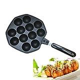 Takoyaki Pan, KOLARK Nonstick Cast Aluminum Alloy Baking Tray Takoyaki Maker, 12 Holes