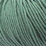 ggh Maxima, Farbe:065 - Berylgrün, 100% Merinowolle (Mulesing Free), 50g Wolle als Knäuel, Lauflänge ca.110 m, Verbrauch 550g, Nadelstärke 4-5, Wolle zum Stricken und Häkeln