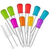 10 piezas Goteros líquidos & 2 cepillos, AIFUDA Aprobado por la FDA...