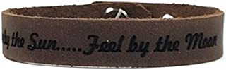 Free Engraving - Personalized Leather Bracelet - Brown