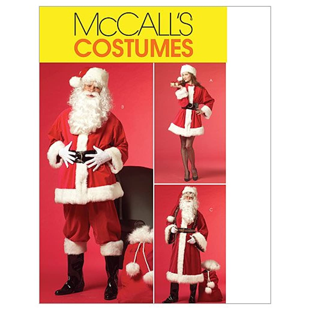 McCall's M5550 Women's and Men's Santa Claus Christmas Costume Sewing Pattern, Sizes XL-XXXL