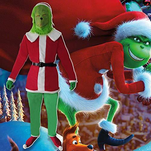Lydia's Anime Cosplay Kleidung Der Grinch Cosplay Kostüme Weihnachten Geek Green Monster Grinch Aufführung Bühnenkleidung Green-140