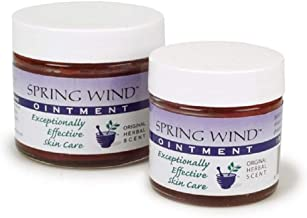 Spring Wind Ointment - Soothes Eczema, Psoriasis, Dry Skin, Minor Burns and Sunburn (Original Herbal Scent - 2oz)