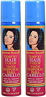 Jerome Russell Temp'ry Hair Color 2.2 Oz. Pack of 2 (Blue & Pink)