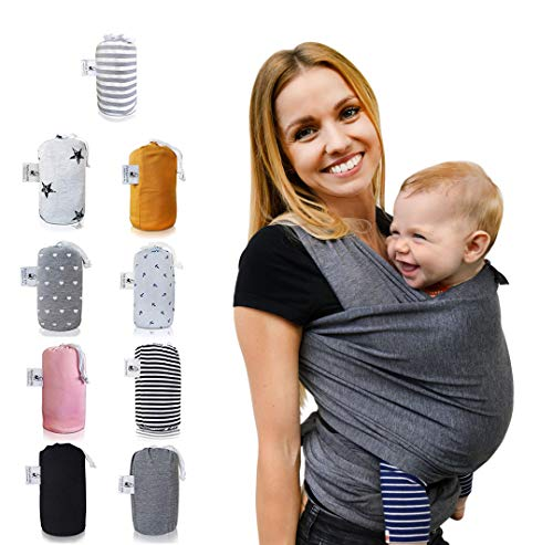 fastique Kids® Écharpe porte-bébé en coton naturel, Écharpe de portage, Élégant et Comfortable